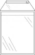 , mailingsenvelop Raadhuis 225x305mm transparant met          plakstrip doos a 1000 stuks