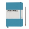 <b>Lt354587</b>,Leuchtturm notitieboek medium 145x210 blanco nordic blauw