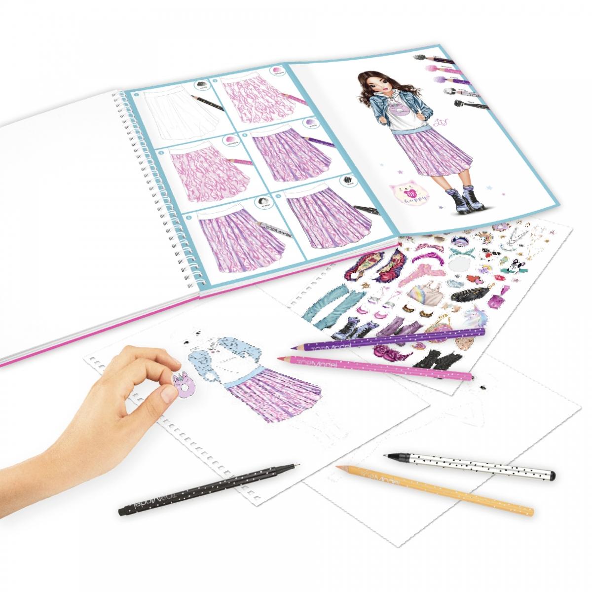 ,Topmodel kleurboek met kleurpotloden