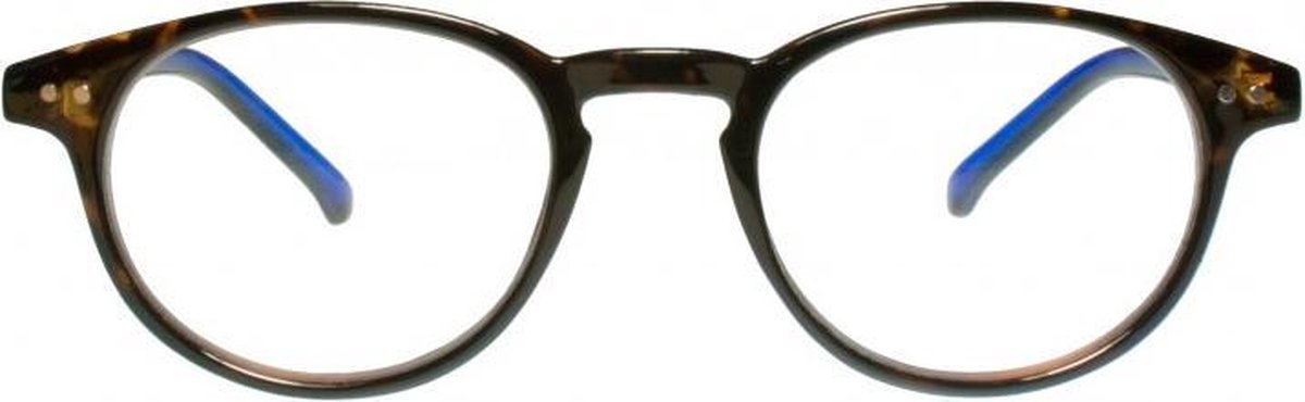 Rce003,Leesbril icon demi with reflex blue temples 2.00