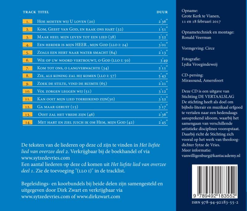 Sytze de Vries,Het liefste lied van overzee Deel 2
