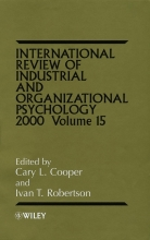 Cooper, Cary L. International Review of Industrial and Organizational Psychology 2000