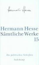 Hesse, Hermann S?mtliche Werke 15