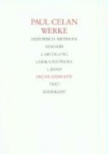 Celan, Paul Frühe Gedichte. (2 Bände)