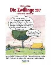 Die Zwillinge 2017 Sternzeichen-Cartoonkalender