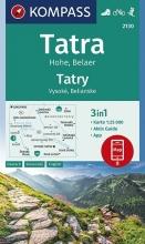 , Tatra Hohe, Belaer, Tatry, Vysoké, Belianske 1:25 000