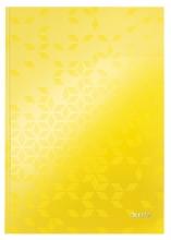 , Notitieboek Leitz WOW A4 lijn geel