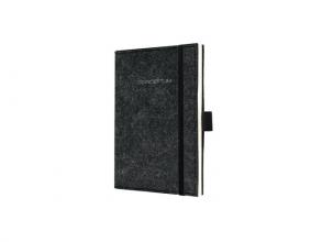 Co580 Notitieboek a6 blanco conceptum look vilt donkergrijs