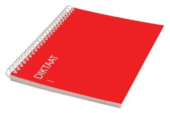 , Schrift dictaat A5 160blz gelinieerd met zijspiraal rood