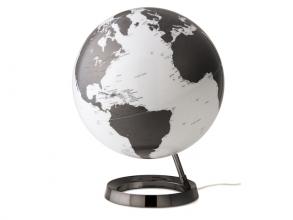 , globe Bright Houtskool grijs 30cm diameter kunststof voet   met verlichting