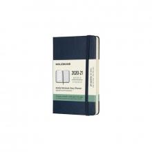 , Moleskine 18 MND Agenda - 2020/21 - Wekelijks - Pocket (9x14 cm) - Sapphire Blue - Harde Kaft