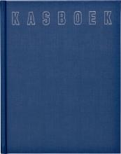 , Kasboek  165x210mm 96blz 1 kolom blauw
