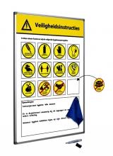 , Veiligheidsbord Corona met wisselbare iconen Nederlandstalig 30x45cm