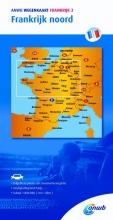 ANWB , ANWB wegenkaart Frankrijk 2 Frankrijk noord