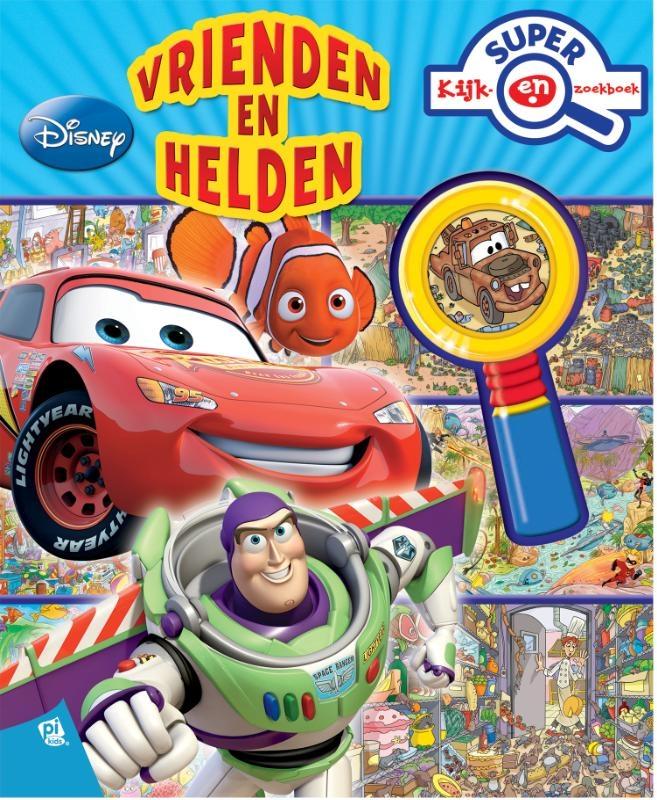 ,Disney Pixar Vrienden en Helden super kijk- en zoekboek met vergrootglas
