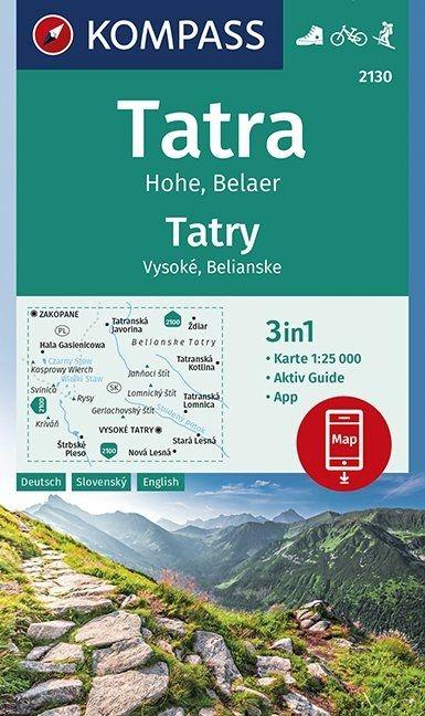 ,Tatra Hohe, Belaer, Tatry, Vysoké, Belianske 1:25 000