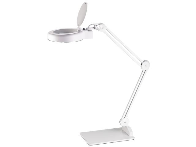 ,bureaulamp met loep Alco LED wit 9,6 watt 48 LEDS