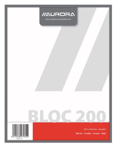 ,Kladblok Aurora 210x270mm 200vel blanco