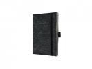 ,notitieboek Sigel Conceptum Look Felt A6 blanco softcover   donkergrijs