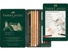 <b>Fc-112975</b>,Faber-castell 12 st pitt monochromeset potloden, krijt en gum