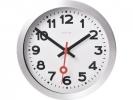 ,Wandklok NeXtime dia. 19 cm, geborsteld aluminium, `Station`