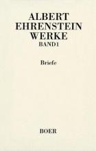 Ehrenstein, Albert Werke 1. Briefe