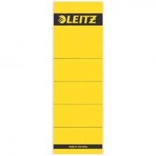 , Rugetiket Leitz breedkort 62x192mm zelfklevend geel