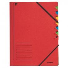 , Sorteermap Leitz 3907 7-delig karton rood