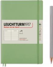 Lt363927 , Leuchtturm notitieboek softcover 19x12.5 cm lijn sage
