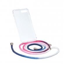 Ax124 , Axento telefoonkoord met hoesje iphone 7+/8+ roze/wit/blauw