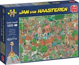 Jum-20045 , Puzzel jumbo efteling sprookjesbos jan van haasteren 1000 stukjes 68x49cm