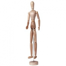 , Talens ledepop 30 cm vrouw hout