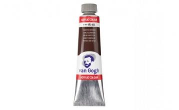 , Talens van gogh acrylverf tube 40 ml van dijckbruin 403