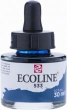 , Talens ecoline vloeibare waterverf fl. 30 ml  indigo 533