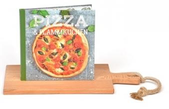Xw1203 Set puur hout serveerplank 38cm + pizza & flammkuchen