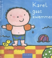 Liesbet Slegers , Karel pretpakket( Karel gaat zwemmen + stickerboek Karel + strandbal)