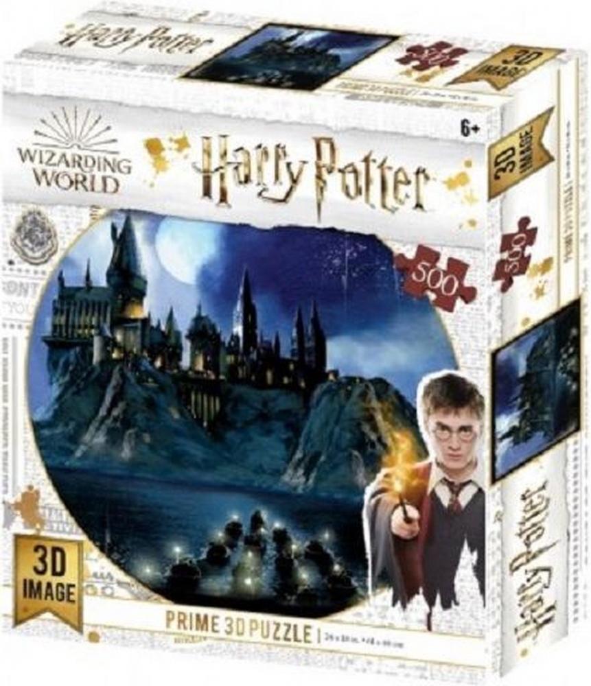 ,Puzzel 3d image - kasteel hogwarts - 500 stuks