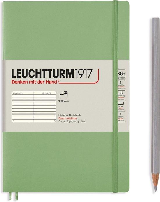 Lt363927,Leuchtturm notitieboek softcover 19x12.5 cm lijn sage