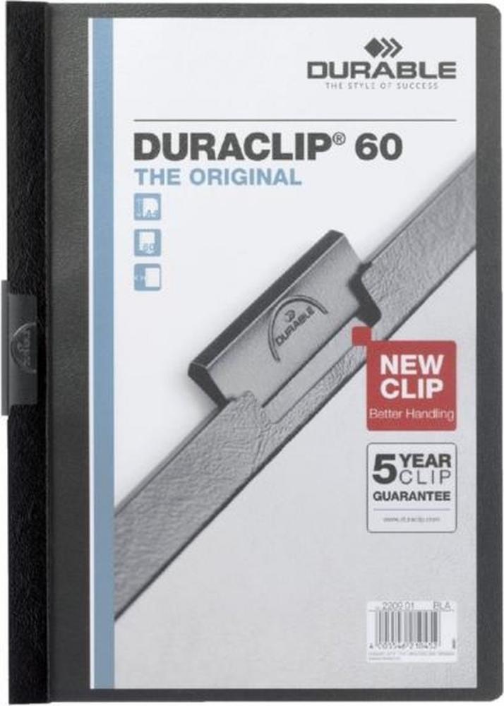 ,Klemmap Durable 2209 A4 6mm zwart