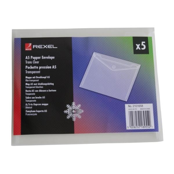 ,Enveloptas Rexel ice A5 transparant