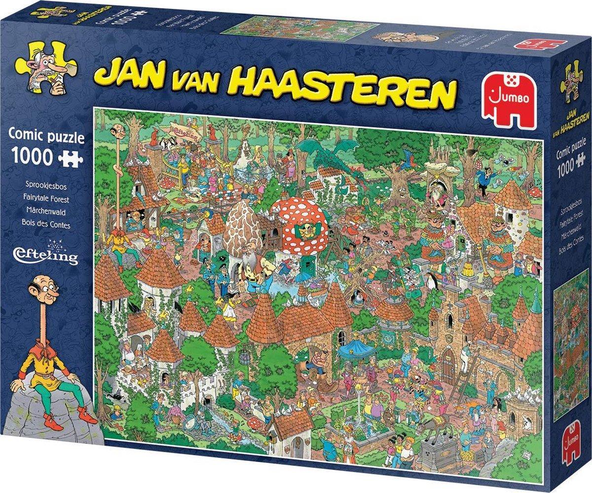 Jum-20045,Puzzel jumbo efteling sprookjesbos jan van haasteren 1000 stukjes 68x49cm