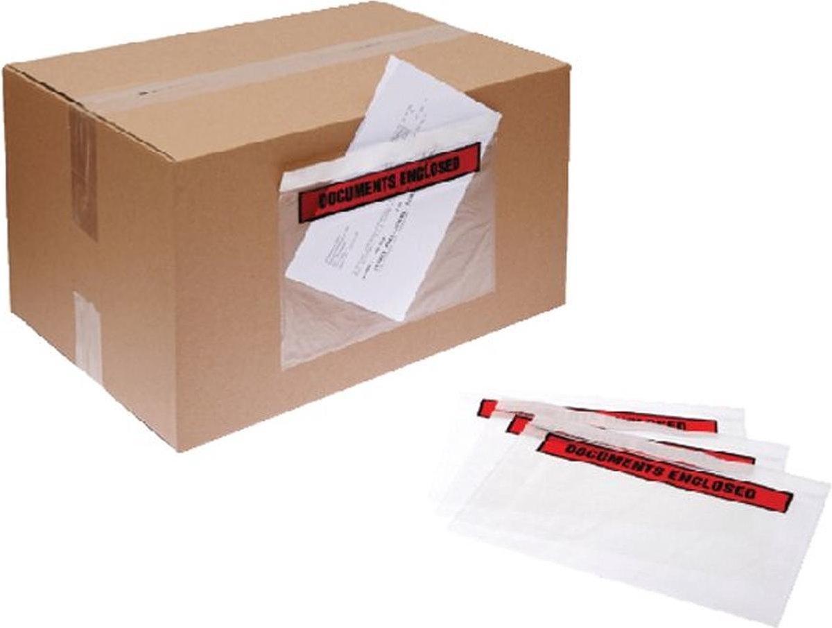 ,Paklijstenvelop Quantore zelfklevend bedrukt 230x121mm 1000s