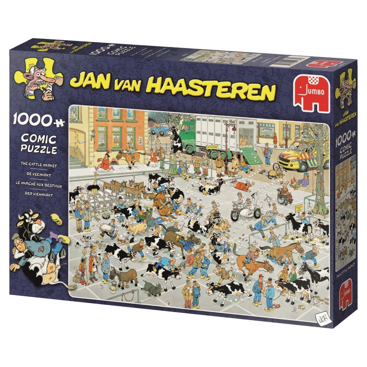 Jum-19075,Puzzel de veemarkt - jan van haasteren 1000