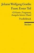 Goethe, Johann Wolfgang von Faust. Erster Teil