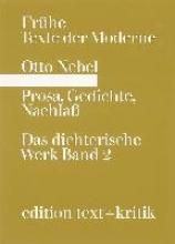 Nebel, Otto Prosa, Gedichte, Nachla