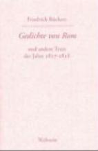 Rückert, Friedrich Gedichte von Rom und andere Texte der Jahre 1817-1818