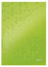 , Notitieboek Leitz WOW A4 lijn groen
