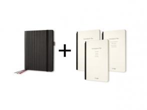 , Business Organiser Conceptum Flex Kunstleer, A5, zwart,     gevuld met schrift gelinieerd, to-do-list schrift en