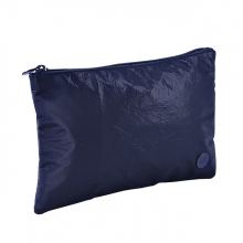 , Etui Lannoo QC Sparkle Cosmetic 21cm tyvek marine blauw