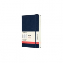 , Moleskine 18 MND Agenda - 2020/21 - Dagelijks - Large (13x21 cm) - Sapphire Blue - Harde Kaft